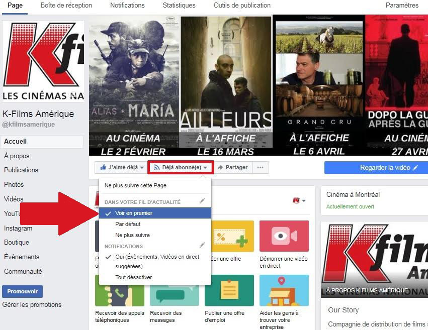 Facebook KFilms Amerique